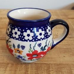 MANUFAKTURAマヌファクトゥラ- ボレスワヴィエツ陶器 - ポーランドマグカップ (220ml) K67-P217