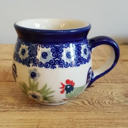 MANUFAKTURAマヌファクトゥラ- ボレスワヴィエツ陶器 - ポーランドマグカップ (220ml) K67-P329