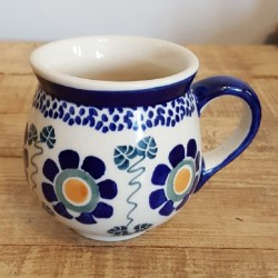 MANUFAKTURAマヌファクトゥラ- ボレスワヴィエツ陶器 - ポーランドマグカップ (220ml) K67-RU