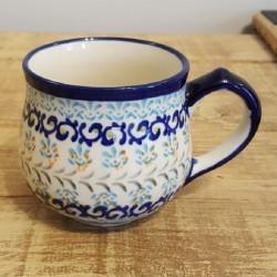 "Zaklady Ceramiczne ""BOLESLAWIEC""(ザクワディ)社製 ポーランド陶器 ポーランドマグカップ0.23L GU1472-1059A"