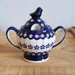 """Zaklady Ceramiczne""""BOLESLAWIEC""""社製 ポーリッシュポタリー ポーランド食器 シュガーポット GU1234-166A"""