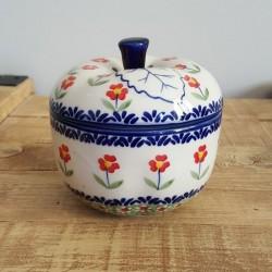 Manufaktura (マヌファクトゥラ) ポーランド陶器 りんごポット 12.0 cm J58-ALC057