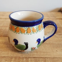 MANUFAKTURAマヌファクトゥラ- ボレスワヴィエツ陶器 - ポーランドマグカップ (220ml) K67-P323