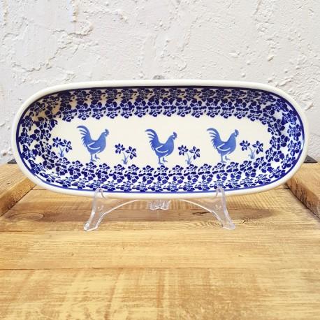 Zaklady Ceramiczne BOLESLAWIEC オーバルロングプレート28.3cm GU928-1149