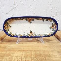 Zaklady Ceramiczne BOLESLAWIEC オーバルロングプレート28.3cm GU928-DU83