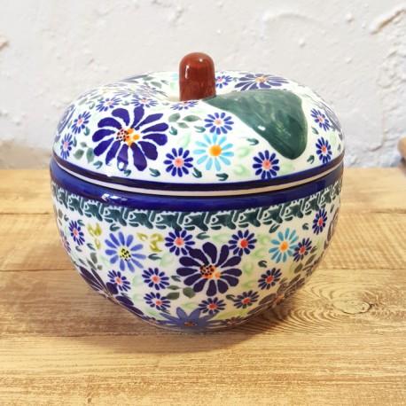 BOLESLAWIEC•ポーランドの陶器•りんごポット GU1425-DU126