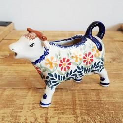 ポーランド陶器 • MANUFAKTURA • 牛のクリーマー 120ml D81-JS14