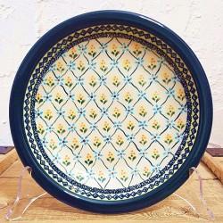 "Zaklady Ceramiczne""BOLESLAWIEC""社製 ポーランド陶器 ポーリッシュポタリー プレート 22cm GU1002-DU43"