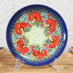 ポーリッシュポタリー BOLESLAWIEC 平皿φ19.5cm GU814-ART296